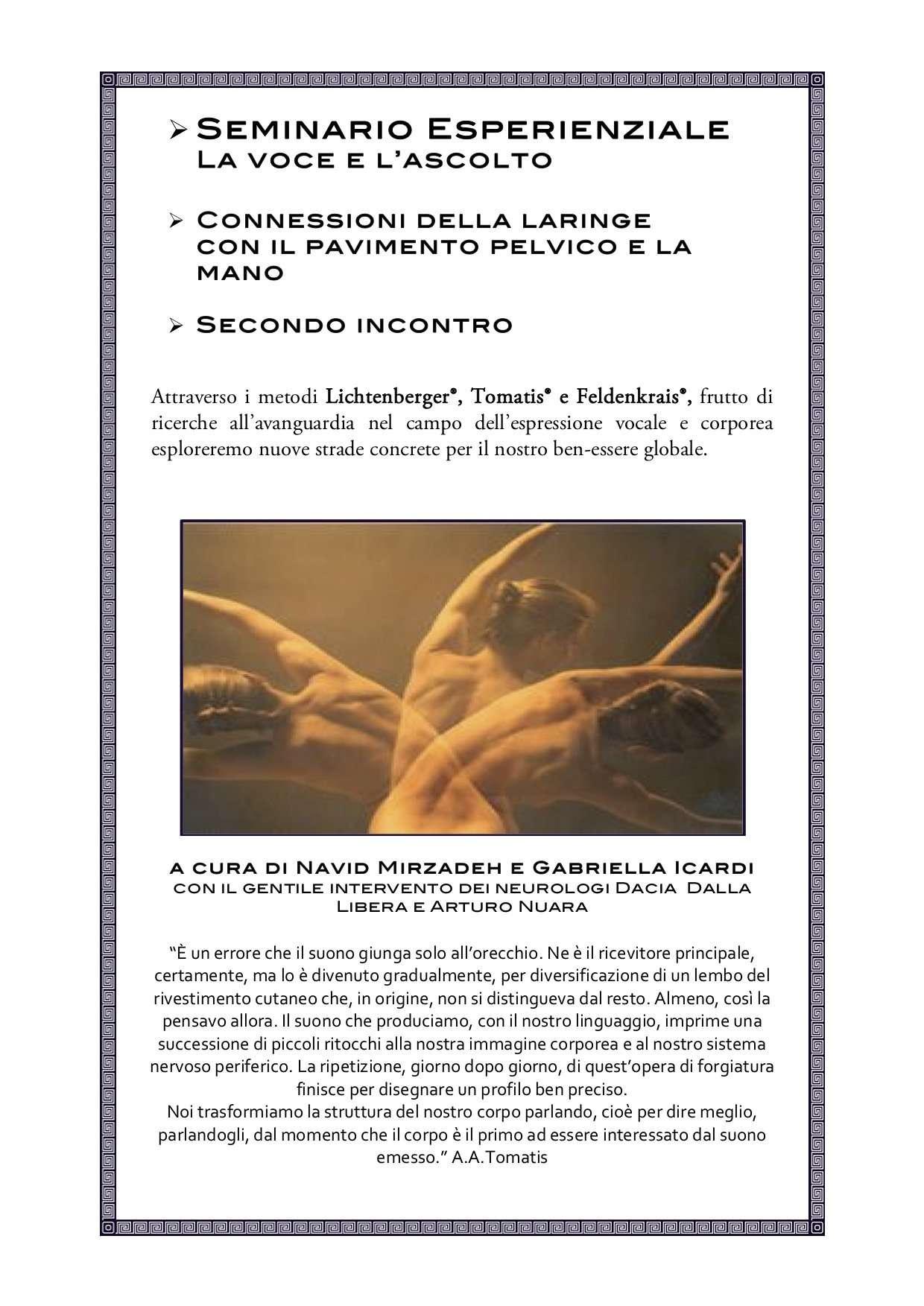 Seminario Esperienziale: La voce e l'ascolto - ASD Centro Feldenkrais Movimento Gabriella Icardi