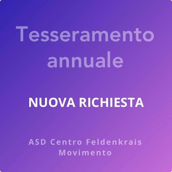 Tesseramento annuale 2021 - ASD Centro Feldenkrais Movimento Gabriella Icardi